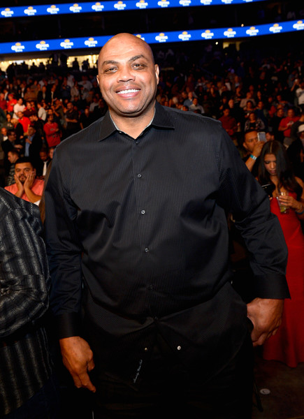Professional basketball player Charles Barkley sits in the audience during Kovalev vs. Ward and D'USSE Lounge at T-Mobile Arena on November 19, 2016 in Las Vegas, Nevada.