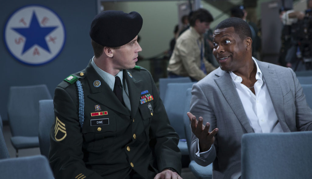 Joe Alwun and Chris Tucker in a scene from BLLHW.