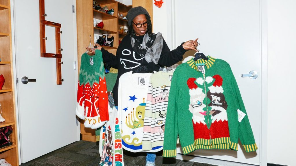 whoopi sells sweaters