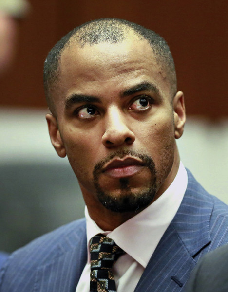 ormer NFL safety Darren Sharper appears at Los Angeles Superior Court March 23, 2015 in Los Angeles, California.