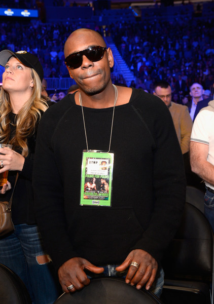 Comedian Dave Chappelle sits in the audience during Kovalev vs. Ward and D'USSE Lounge at T-Mobile Arena on November 19, 2016 in Las Vegas, Nevada.