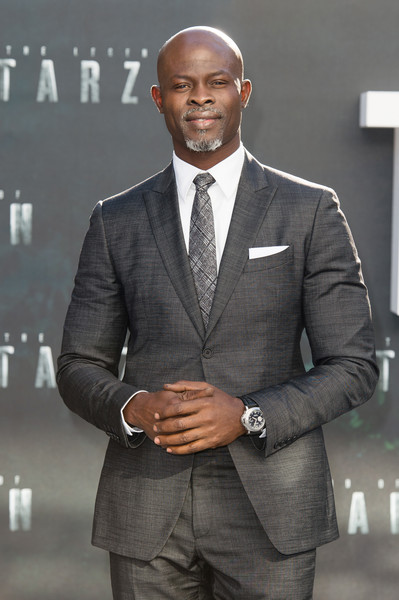 """Djimon Hounsou attends the European premiere of """"The Legend Of Tarzan"""" at Odeon Leicester Square on July 5, 2016 in London, England."""