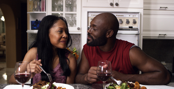 Monica Calhoun and Jimmy Jean-Louis in a scene from 'Everything But a Man.'