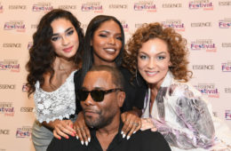Star Actresses Brittany O'Grady, Ryan Destiny, and Jude Demorest pose with director Lee Daniels backstage during the 2016 ESSENCE Festival presented By Coca-Cola at Ernest N. Morial Convention Center on July 2, 2016 in New Orleans, Louisiana.