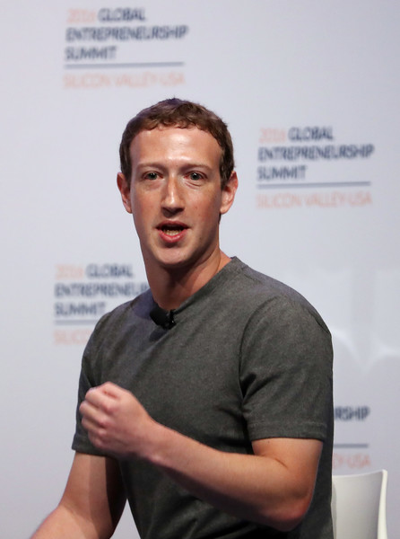 Facebook CEO Mark Zuckerberg speaks on a panel discussion with U.S. President Barack Obama (not pictured) during the 2016 Global Entrepreneurship Summit at Stanford University on June 24, 2016 in Stanford, California