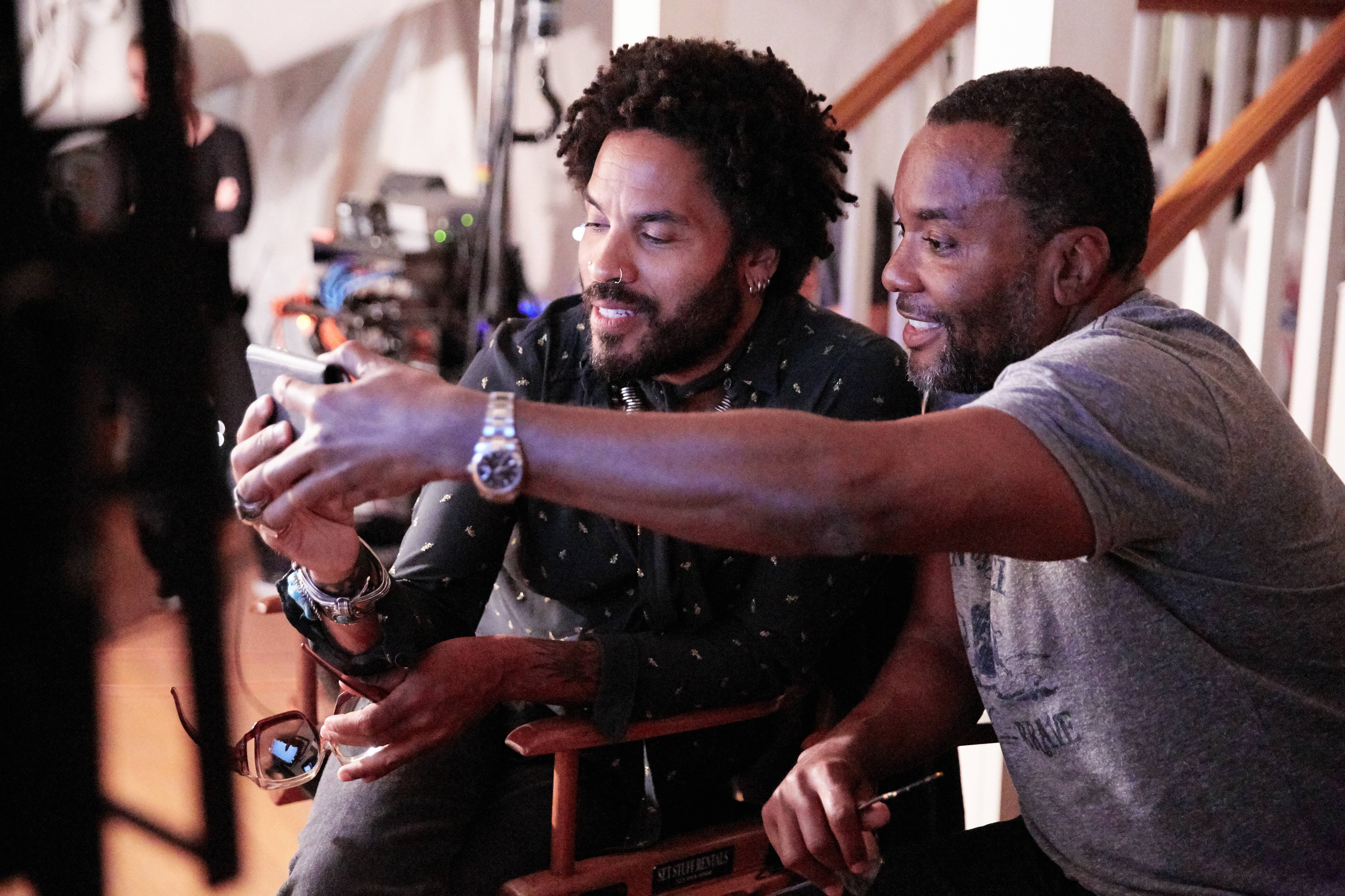 Lenny Kravitz & Lee Daniels on the set of FOXs 'Star'