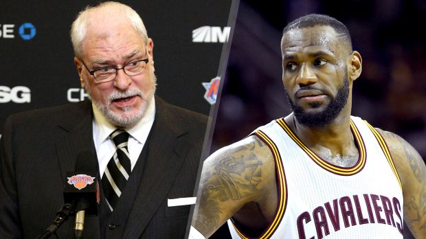 Phil Jackson and LeBron James