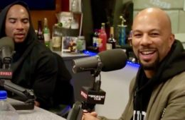 Charlamagne the God (L) and Common on The Breakfast Club