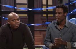 "Dave Chappelle (L) and Chris Rock on ""Saturday Night Live"""