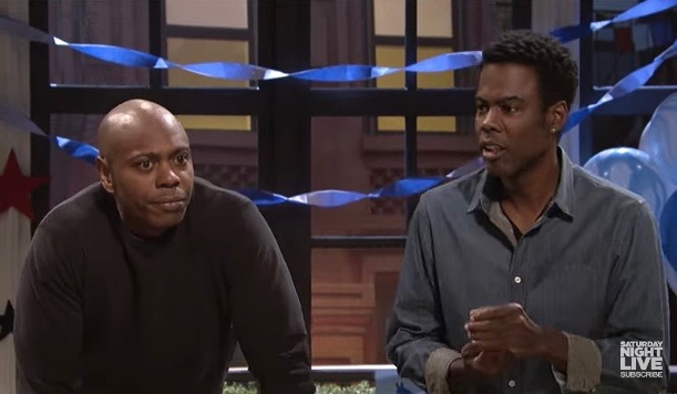"""Dave Chappelle (L) and Chris Rock on """"Saturday Night Live"""""""
