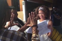 "Ava DuVernay and Storm Reid in a mannequin challenge on the set of ""A Wrinkle in Time"""