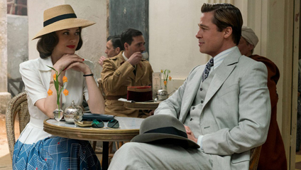 Marianne Beausejour as Marion Cotillard as Marianne Beausejour and Brad Pitt as Max Vatan in 'Allied.'