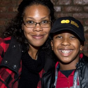 Postsecondary Education Executive Kerri Moseley-Hobbs (US Dept. of Education) with son Anthony Michael Hobbs.