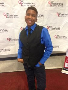 Eleven year-old multi-award winning actor/filmmaker wins 'Best Yout Film' Director at the 2016 Gary International Black Film Festival. (Photo credit: Eunice Moseley)