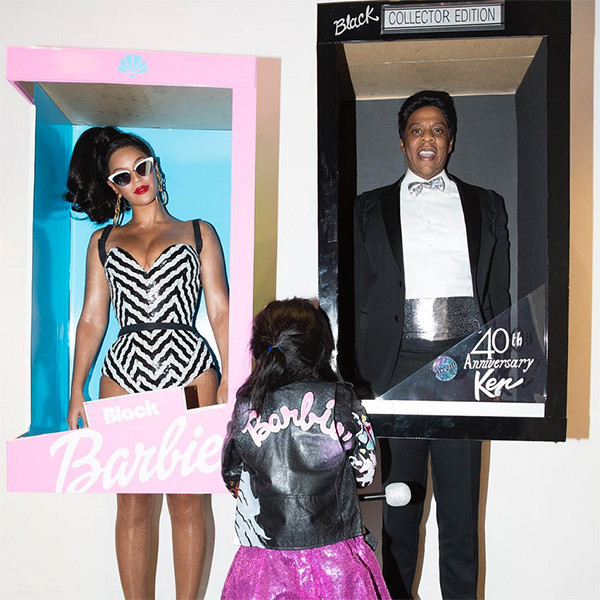 The Carters go as barbies for Halloween 2016 (Instagram)