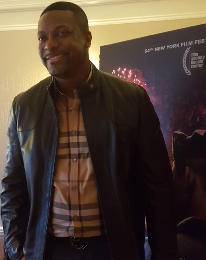 Chris Tucker at the Essex House hotel in New York. (MMoore Photo)