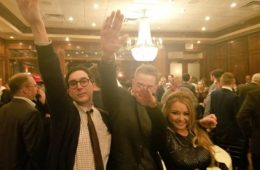 """Tila Tequila tweeted out this photo captioned """"Seig heil!"""" on Nov. 18, 2016. (VIA TWITTER)"""