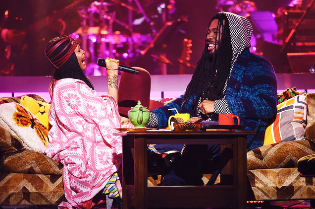 Erykah Badu and D.R.A.M. perform onstage during the 2016 Soul Train Music Awards on Nov. 6, 2016 in Las Vegas.