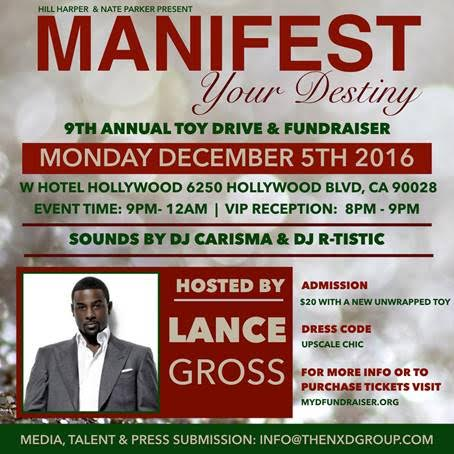 hill harper, nate parker, 9th annual manifest your destiny toy drive & fundraiser