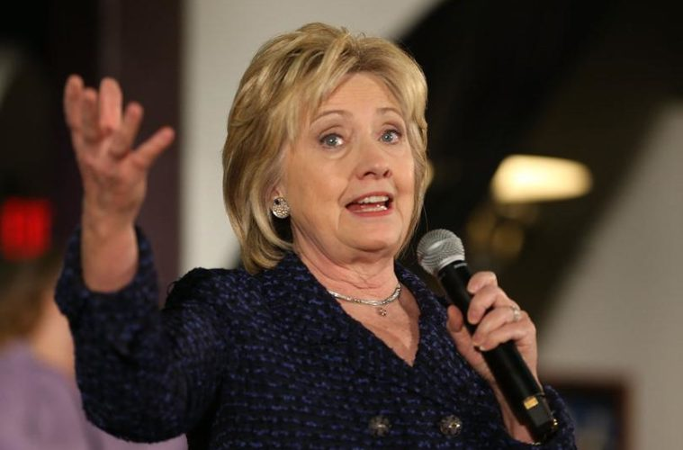 hillary clinton (with mic)