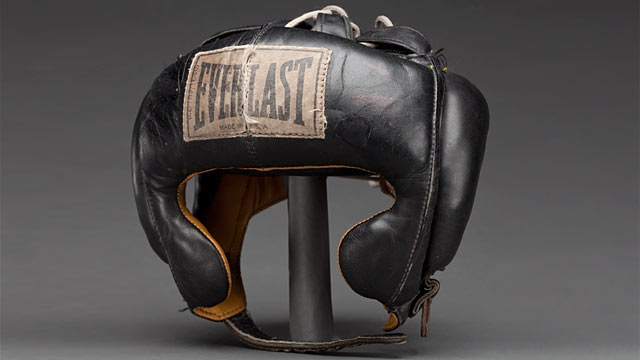 PHOTO: Muhammad Ali's headgear. National Museum of African American History and Culture
