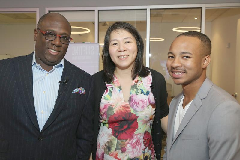 Ed Dandridge (Chief Marketing and Communications Officer at Marsh & McLennan Companies, Bo Young Lee (Global Diversity & Inclusion Officer at Marsh), Jaylen Bledsoe (teen tech entrepreneur)
