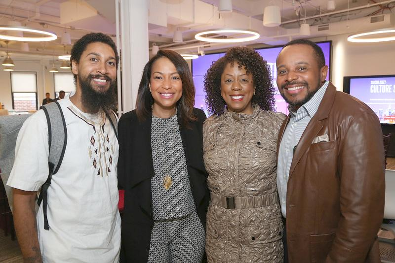 Errol King (Google), Valeisha Butterfield Jones (Head of Black Community Engagement, Google), Michelle Gadsden Williams and David Williams (Co-Founders of Ceiling Breakers)