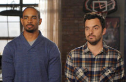 "Damon Wayans, Jr., left, and Jake Johnson in ""New Girl"" on Fox."