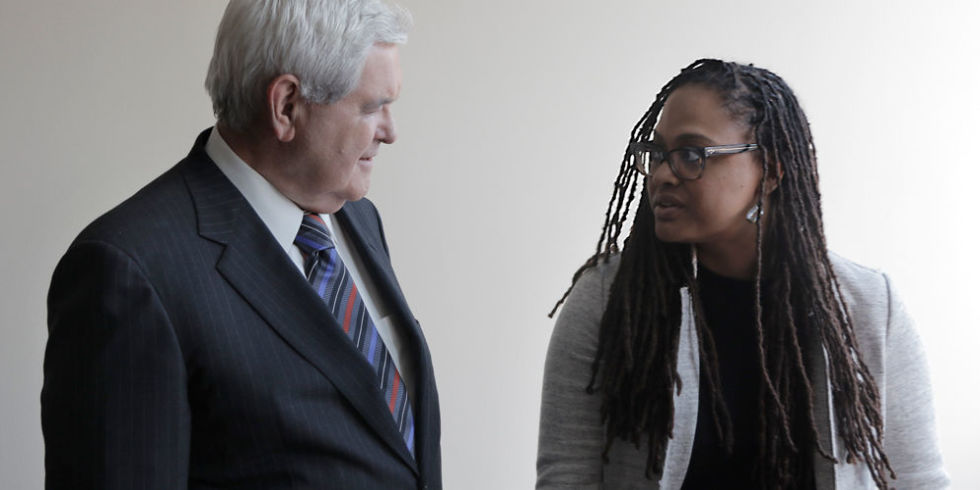 Newt Gingrich and Ava DuVernay