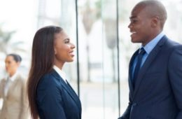 male&female businesspeople