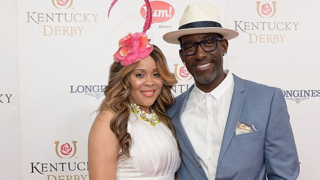 Shawn Stockman and his wife Sharonda Jones (Photo by Gustavo Caballero/Getty Images)