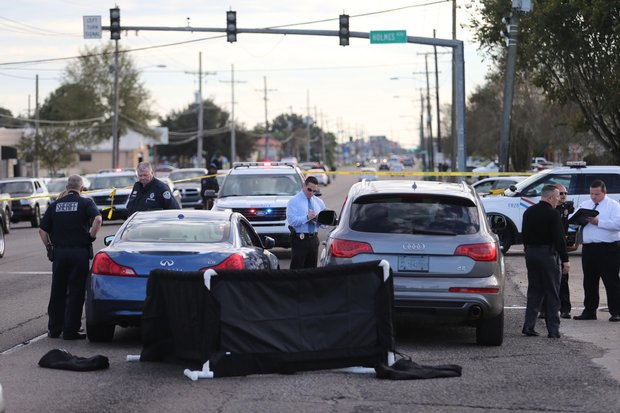 The scene of a fatal shooting in Terrytown Thursday afternoon (Dec. 1). (Photo by Michael DeMocker, NOLA.com | The Times-Picayune)
