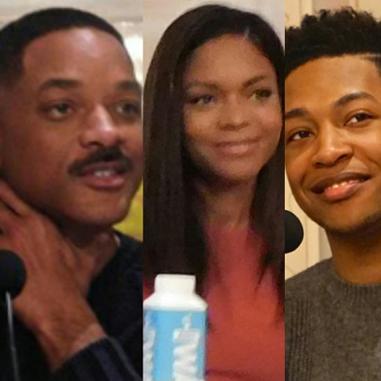 Will Smith, Naomi Harris, and Jacob Latimore at the Crosby Hotel in NY. (MMoore Photo)