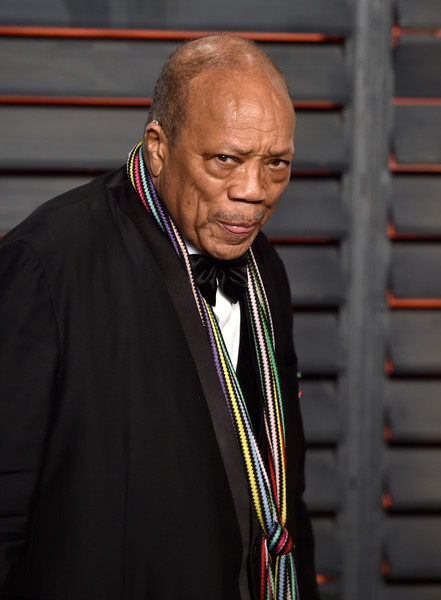 Producer Quincy Jones attends the 2016 Vanity Fair Oscar Party Hosted By Graydon Carter at the Wallis Annenberg Center for the Performing Arts on February 28, 2016 in Beverly Hills, California.