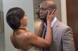 "EMPIRE: Pictured L-R: Taraji P. Henson and guest star Taye Diggs in the ""What We May Be"" episode of EMPIRE airing Wednesday, Nov. 16 (9:00-10:00 PM ET/PT) on FOX. ©2016 Fox Broadcasting Co. CR: Chuck Hodes/FOX"