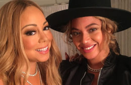 "Mariah Carey visited by Beyonce backstage at her ""All I Want for Christmas"" concert at New York's Beacon Theatre (Dec 11, 2016)"