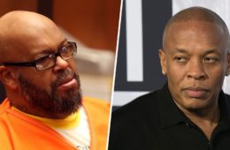 Suge Knight (L) and Dr. Dre
