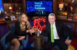 WATCH WHAT HAPPENS LIVE -- Episode 13092 -- Pictured: (l-r) Mariah Carey, Andy Cohen -- (Photo by: Charles Sykes/Bravo)
