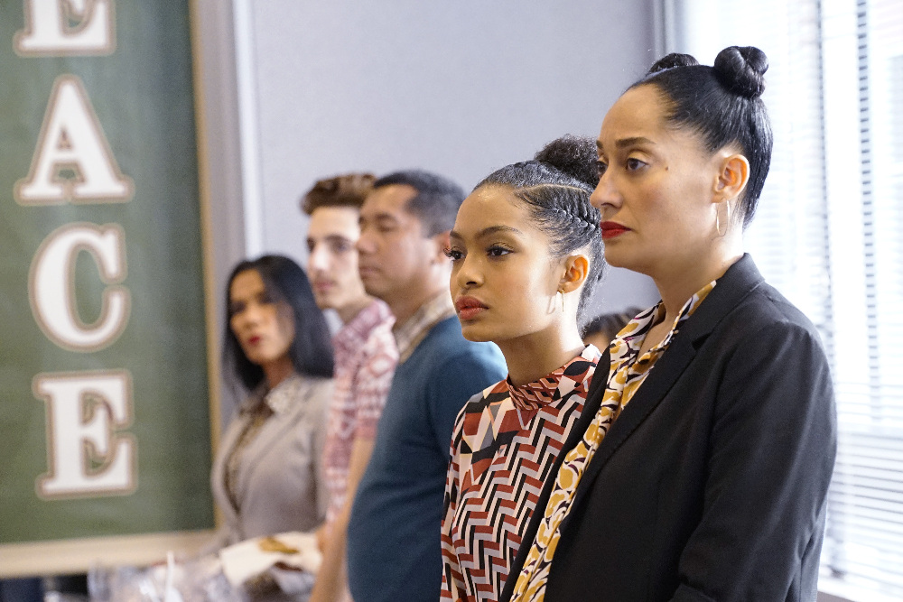 "BLACK-ISH - ""LEMONS"" - The nation is still reeling after the outcome of the presidential election, and tensions are particularly high at Dre's work. Much to his frustration, they haven't been able to get anything done since election night - eight weeks ago. Meanwhile, Junior is dealing with a disenfranchised student body as class president, and when he is asked to deliver Martin Luther King Jr.'s ""I Have a Dream"" speech at school, Pops teaches him there is more to the speech than Junior thought, on ""black-ish,"" WEDNESDAY, JANUARY 11 (9:31-10:00 p.m. EST), on the ABC Television Network. (ABC/Kelsey McNeal)"