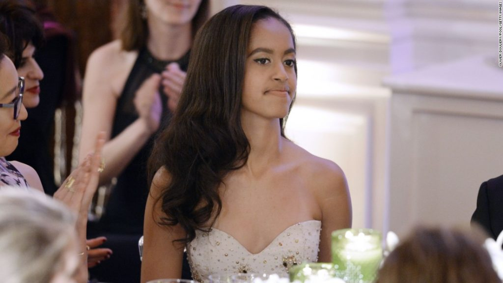 Malia Obama attends a State Dinner in honor of Canadian Prime Minister Justin Trudeau. (