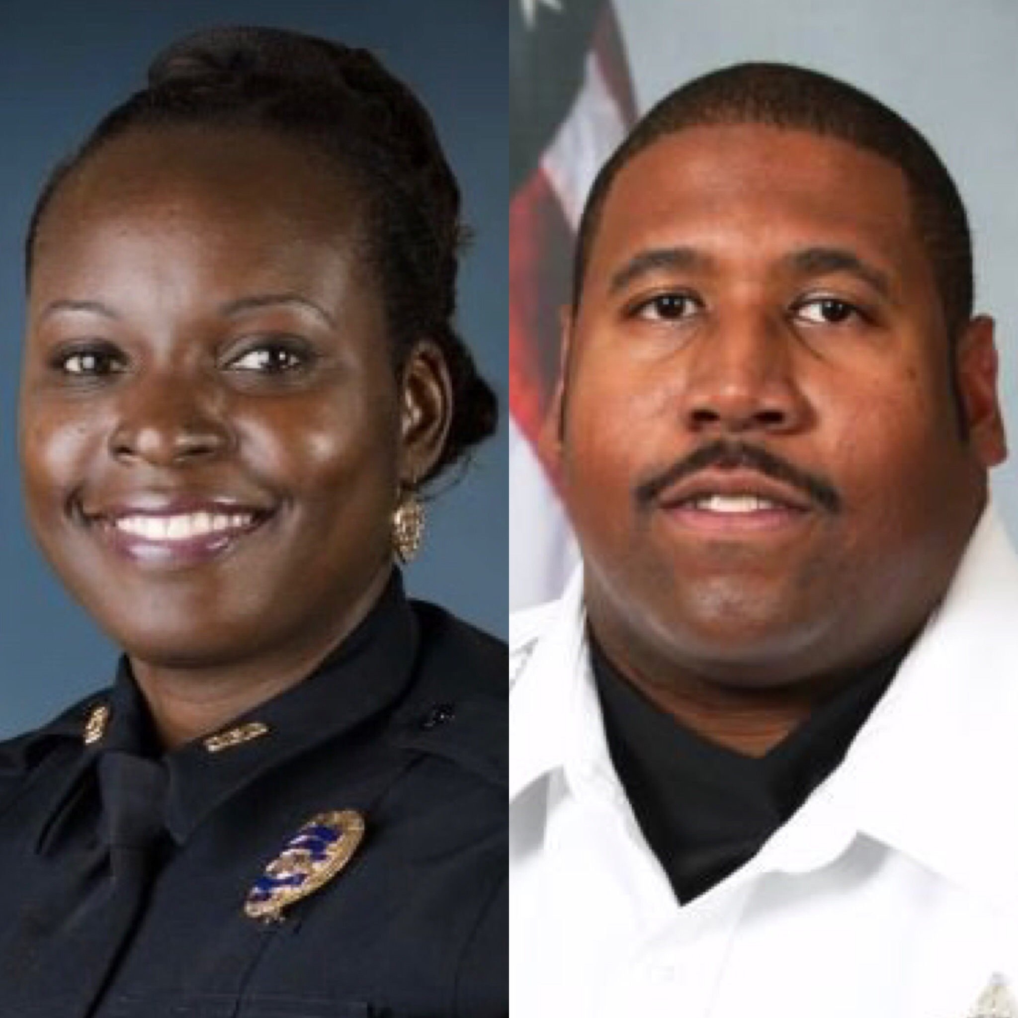 Deputy First Class Norman Lewis of the Orange County Sheriff's Office (R) killed in traffic accident during manhunt for suspect in killing of Orlando police Master Sgt. Debra Clayton