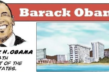 Barack Obama History comic page and Quote For EURWEB1