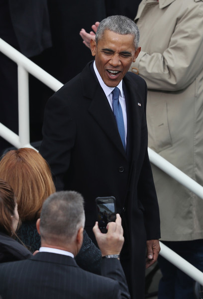 President Barack Obama arrives on the West Front of the U.S. Capitol on January 20, 2017 in Washington, DC. In today's inauguration ceremony Donald J. Trump becomes the 45th president of the United States.