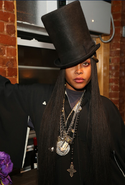 Recording artist Erykah Badu attends the Soul Train Soul Food Vegan Dinner Party on November 21, 2016 in New York City.
