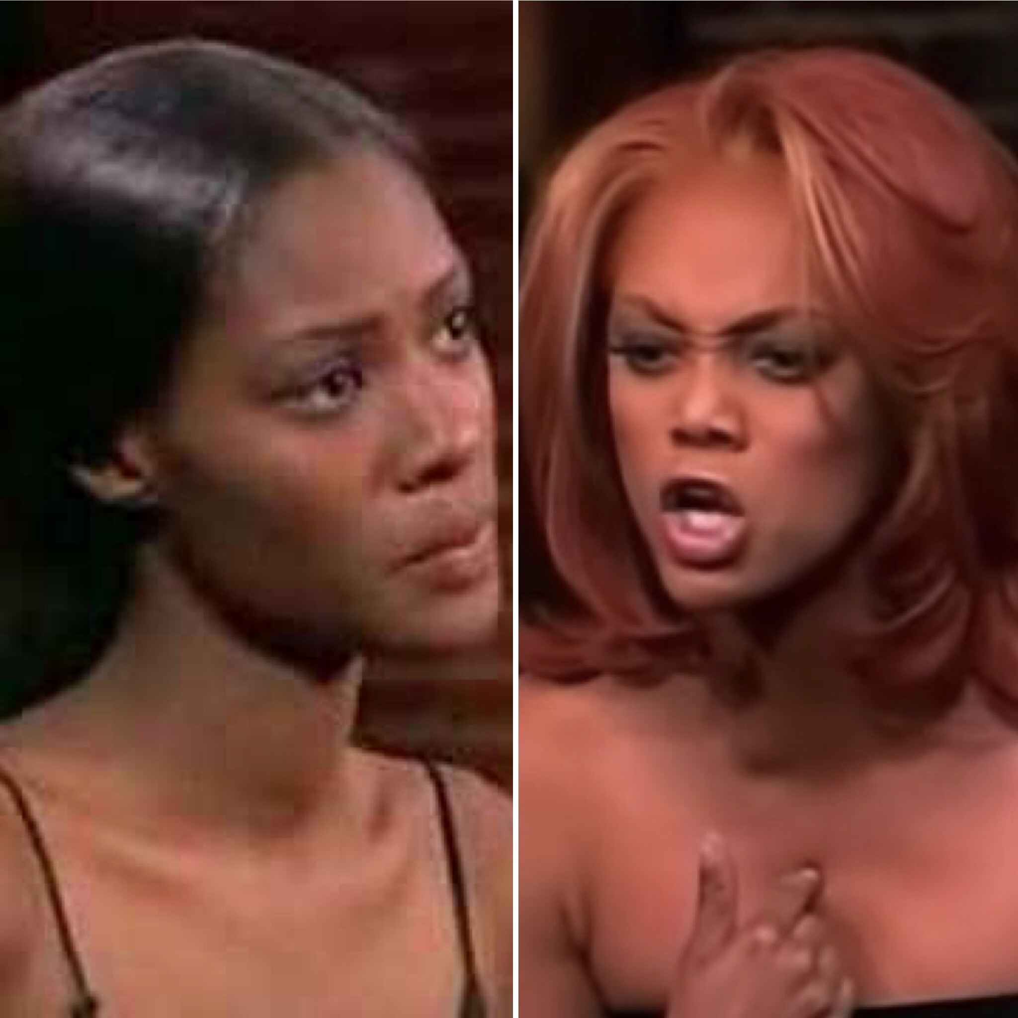 "Tiffany Richardson (L) and Tyra Banks on Season 4 of ""America's Next Top Model"""