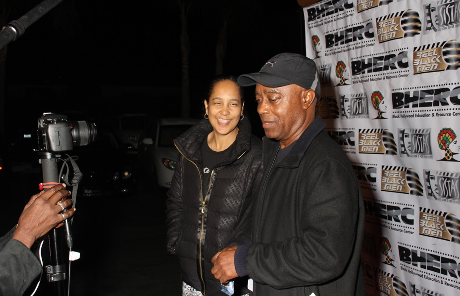 Black Hollywood Education and Resource Center alum & noted filmmakers Gina Prince Blythewood (Secret Life of Bees) and Charles Burnett (Killer of Sheep) chat on the red carpet at Raleigh Studios, site of S. E. Manly Short Film Fest. For info on 2017 visit BHERC.org (Photo by Cazzi Burns courtesy of BHERC)