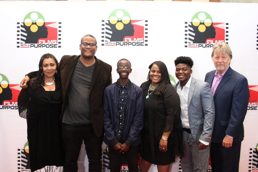 Films With A Purpose presents an encore screening Saturday January 14th 2017 at 8 PM at the Harmony Gold Preview House, 7655 W. Sunset Blvd. Los Angeles, CA 90046. (Pictured: Sarah Gibson, Satie Gossett/Director,Roland Kilumbu, Sandra Evers Manly, Charles Lott, Jr. and JD Hinton