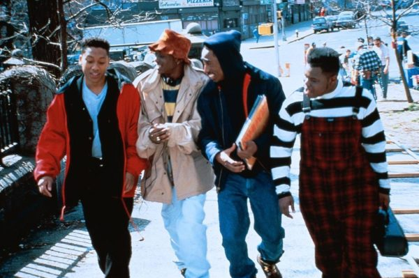 Juice stars Khalil Kain, Omar Epps, Tupac Shakur and Jermaine Hopkins