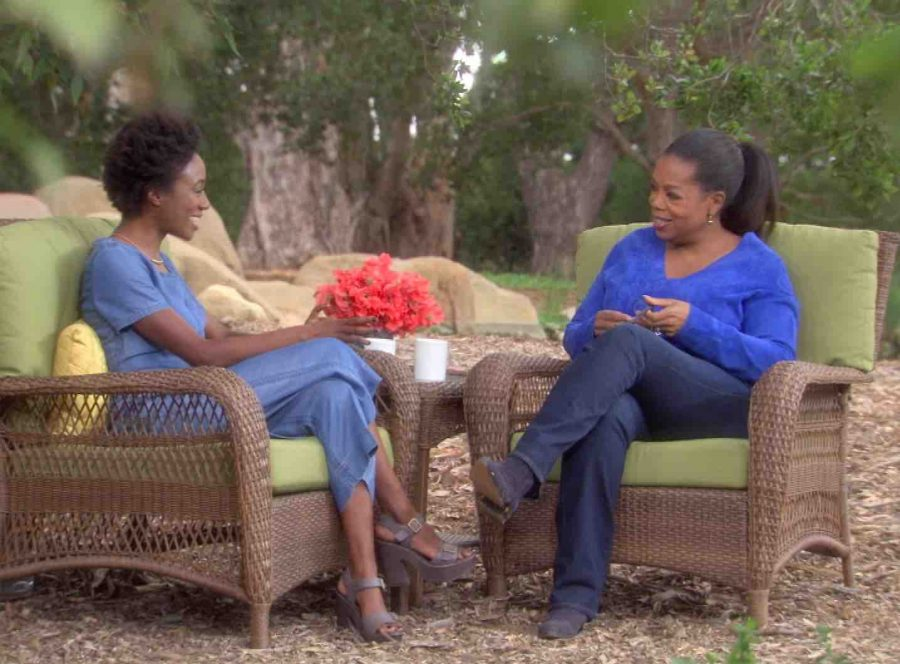 """Kim Brooks (School of Communication '05) hosts """"O Girls,"""" a documentary about the journeys of graduates from the Oprah Winfrey Leadership Academy for Girls, which premieres Jan. 15 on Fusion."""
