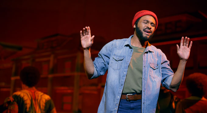 Jarran Muse as Marvin Gaye Photo credit: Joan Marcus